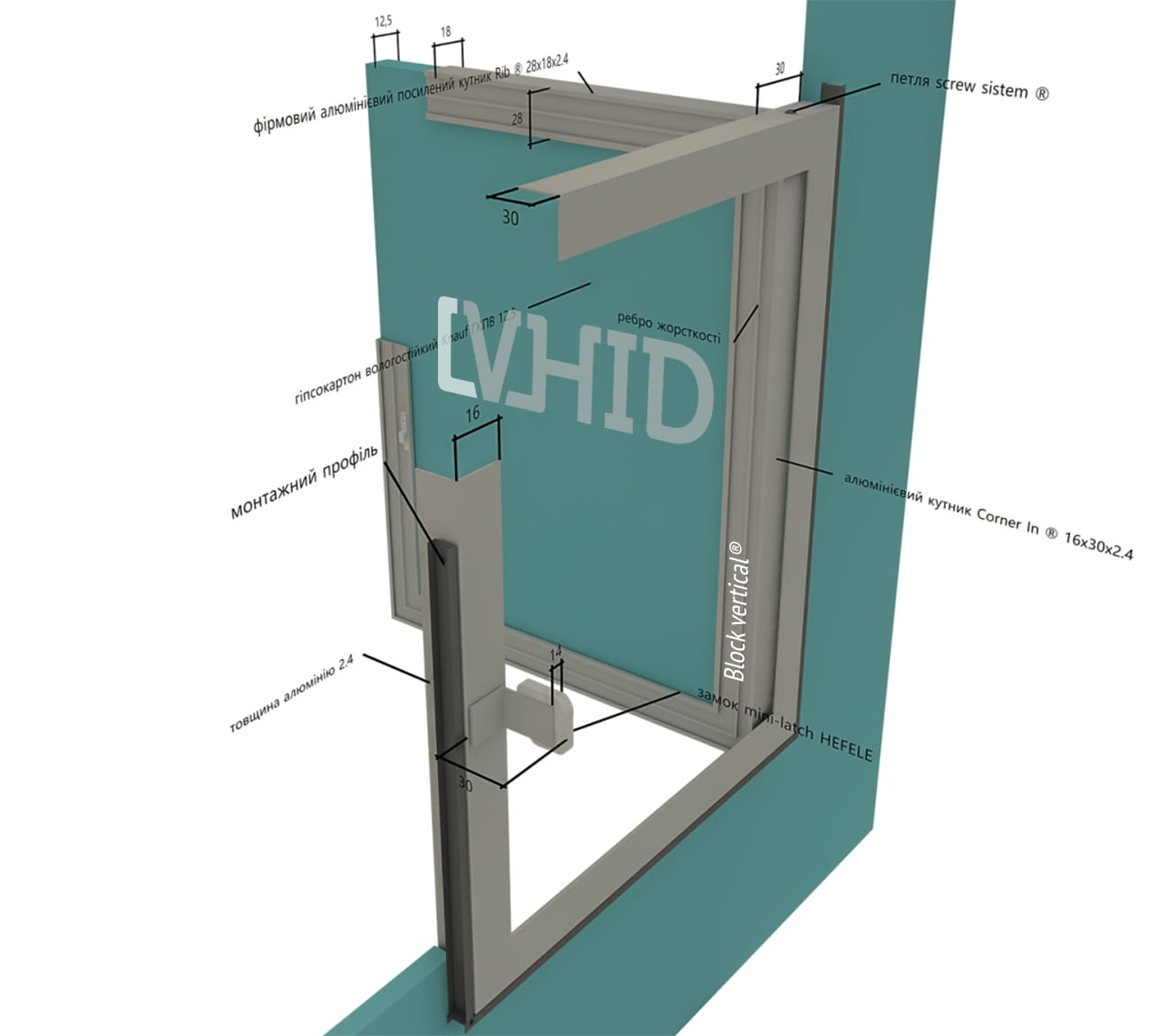 Люк block vertical