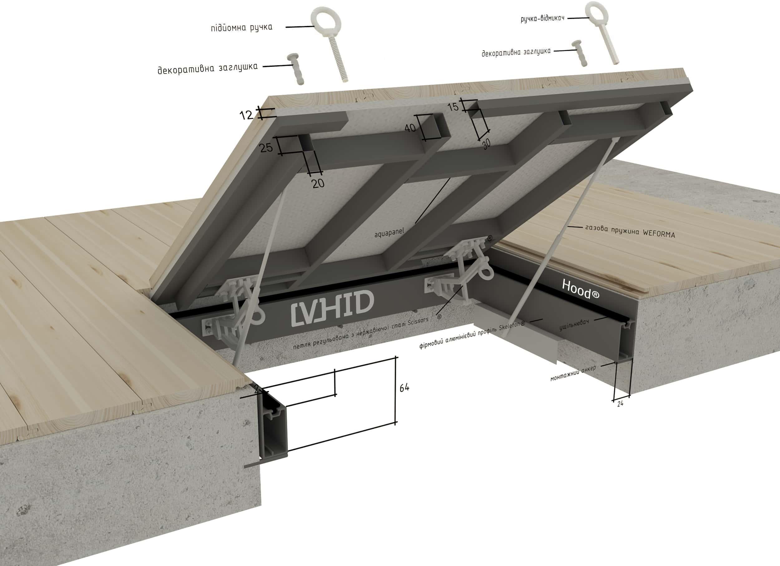 Hood-vhid-3D-drawing